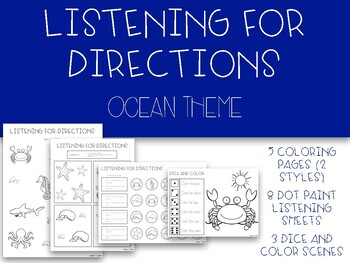 Listening For Directions: Ocean Animals