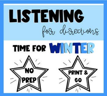 Listening For Directions - Time For Winter!