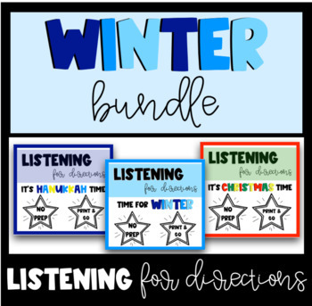 Listening For Directions - Winter BUNDLE