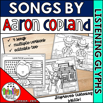 Listening Glyph Scenes for Aaron Copland's Music