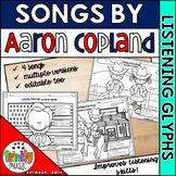 Listening Glyph Scenes for Aaron Copland's Music