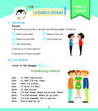 Listening Grade 1 - Lesson 1 Worksheet (Introducing a friend)