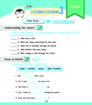 Listening Grade 1 Workbook Pg. 20-35