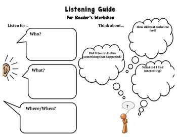 Listening Guide for Reader's Workshop