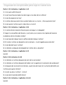 "Listening Guide in Spanish to ""Bajo la misma luna"""
