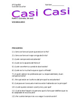 "Listening Guide in Spanish to ""Casi Casi"""