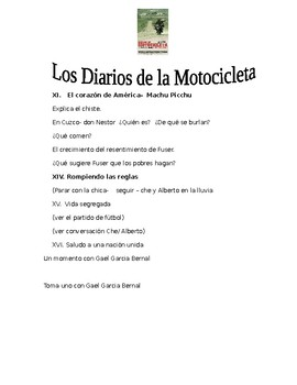 """Listening Guide in Spanish to """"Motorcycle Diaries"""""""