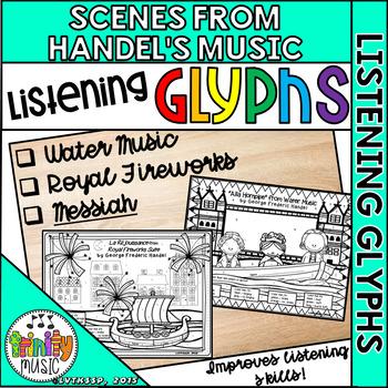 Listening Glyph Scenes for Handel's Music