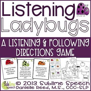 Listening Ladybugs: Following Directions