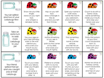 Listening Ladybugs: Following Directions Holiday Add-On