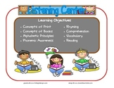 Listening Learning Center Sign~ With Objectives