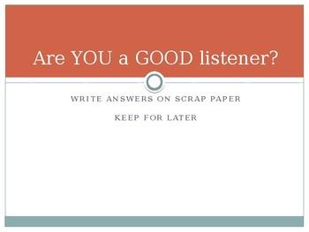 Listening Lesson Plan Powerpoint