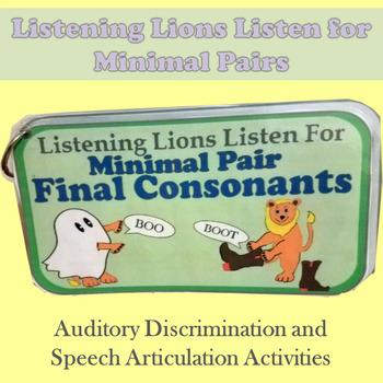 Listening Lions Listen for Final Consonants