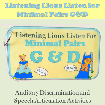 Listening Lions Listen for /g/ and /d/