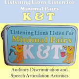 Listening Lions Listen for /k/ and /t/