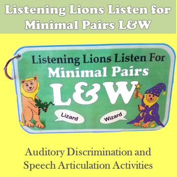 Listening Lions Listen for /l/ and /w/