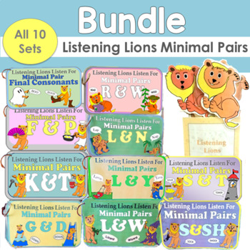 Listening Lions Minimal Pairs Bundle (All 10 sets)