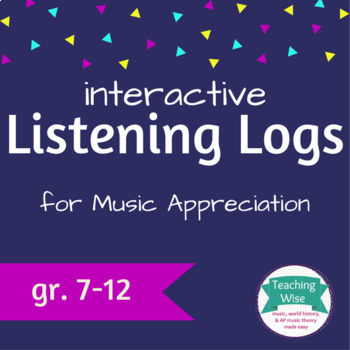 Interactive Notebook Listening Logs for Music Appreciation