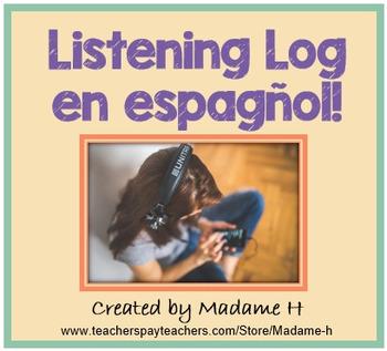 Listening Log en espagñol - Spanish Listening Log