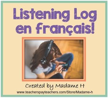 Listening Log en français - French Listening Log