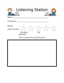 Listening Post Response Sheet