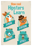 Listening Posters for Cool Hipsters Bundle