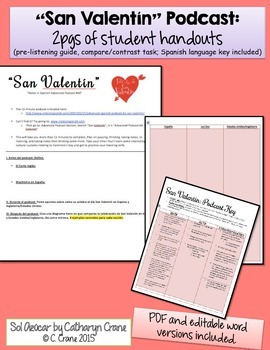 Spanish Valentine's - El Amor & San Valentin Podcasts - 100% Spanish