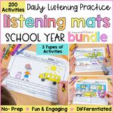 Listening Activity Mats Bundle    Distance Learning