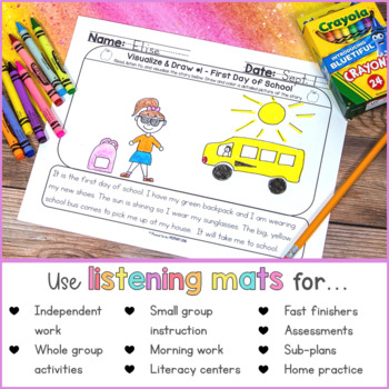 Listening Activity Mats Bundle  | Distance Learning