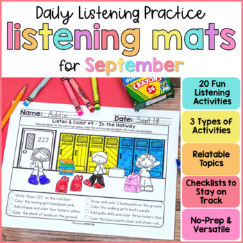 Listening Activities for Back to School