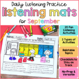 Listening Activities for Back to School (August or September)