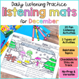 Listening & Following Directions Activities for December