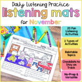 Listening & Following Directions Activities for November