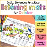 Listening Activities for October