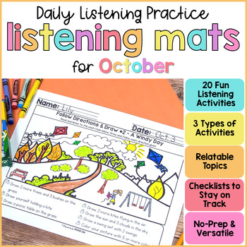 Listening Activities for October