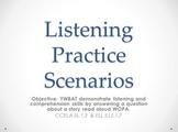 Listening Practice Scenarios in PowerPoint