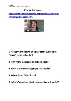 Listening Questions Languages & Present Tense