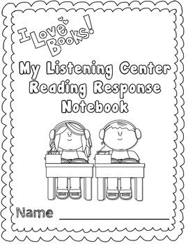 Listening Reading Response Journal Notebook-Handwriting Lines