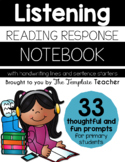 Listening Reading Response Journal Notebook-Handwriting Lines