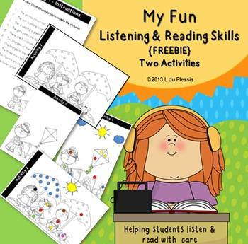 Listening & Reading Skills Summer Freebie {Following Directions}