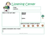 Listening Response Forms for center or workshop