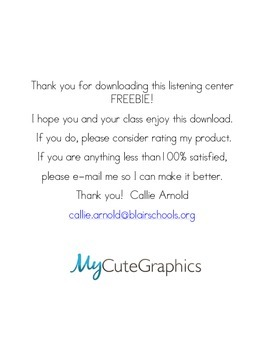 Listening Response Pages