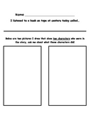 Listening Response Sheet for Characters