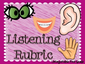 Listening Rubric Posters