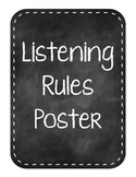 Listening Rules Poster