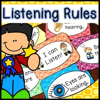 Listening Rules with Matching Book - How to Listen - Whole Body Listening