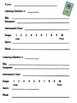 Listening Selection Worksheets for Middle School General Music