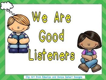 Listening Shared Reading Kindergarten or 1st Grade- Rules