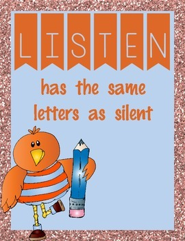 Listening Silently- Orange and  Pink