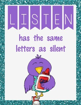 Listening Silently- Turquoise and Purple